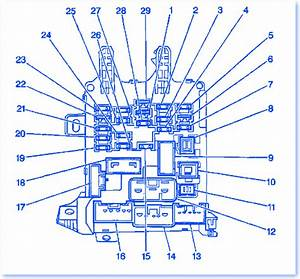 Chevrolet Prizm 2002 Under Dash Fuse Box  Block Circuit Breaker Diagram  U00bb Carfusebox