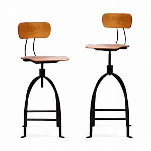 Chaise De Bar Rglable Industriel Mtal JB Pennel By Drawer