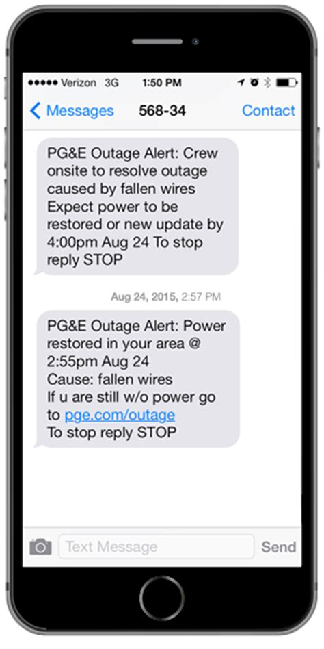 stay informedset  outage alerts pge
