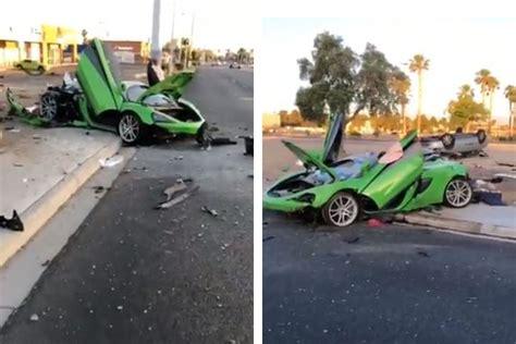 victim idd  suspected dui crash  mclaren race car