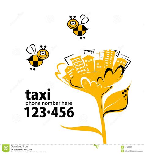 taxi phone number banner for taxi service stock photography image 34128802