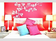 stylish bedroom wall painting design and ideas with bright