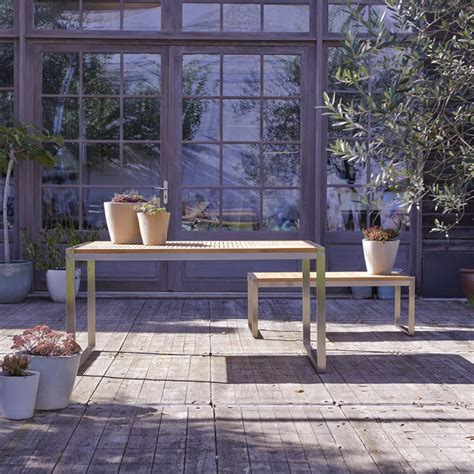 Meuble Tv Arno by Table De Jardin En Teck Inox Vente Meuble D Ext 233 Rieur Arno
