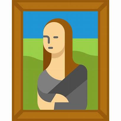 Painting Icon Museum Vector Portrait Canvas Svg