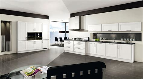 cuisine photo moderne cuisine blanc brillant 2531 menuiserie dufays