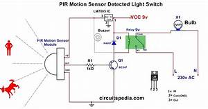 Pir Motion Sensor Circuit For Human Detection And Lighting