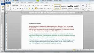 microsoft word 2010 document basics tutorial 4 With documents on microsoft word 2010