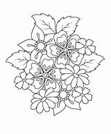 Embroidery Coloring Pages Flower Patterns Jacobean Adult Uploaded User sketch template