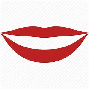 Happy, lips, lipstick, mouth, red, smile, teeth icon ...