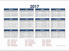 2017 Accounting Period Calendar 445 Free Printable