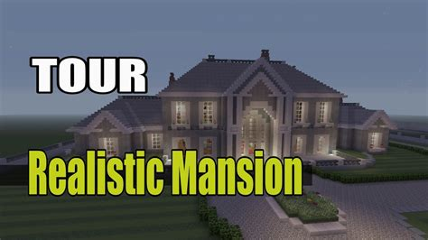 minecraft realistic mansion  youtube