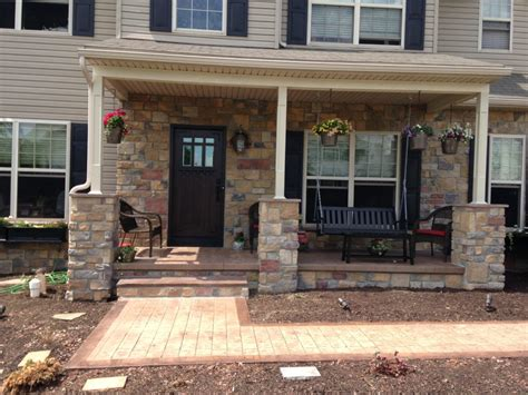 front porch remodeling project  renovation design