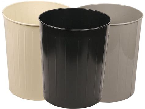 Large Round Steel Trash Can 49.6 Qt., Indoor Trash Cans