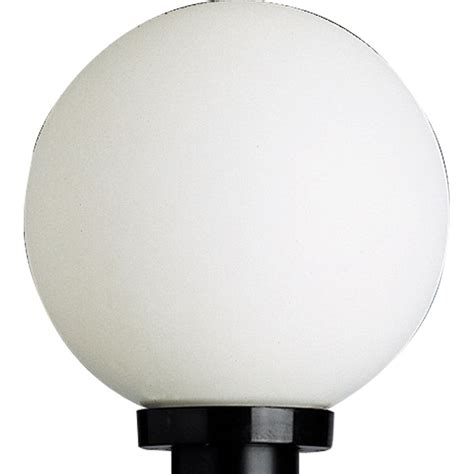 plastic globes for outdoor lights progress lighting white acrylic globe outdoor post lantern