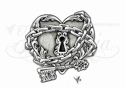 Tattoo Lock Heart Key Designs Chains Tattoos