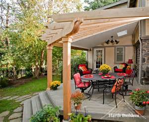 roof trellis merion station roof and trellis porch philadelphia by harth builders
