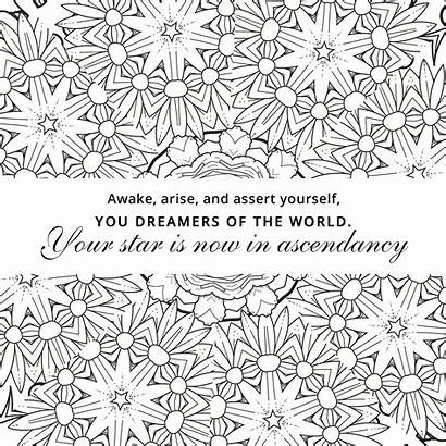 Coloring Pages Positive Affirmation Inspirational Quotes Grow