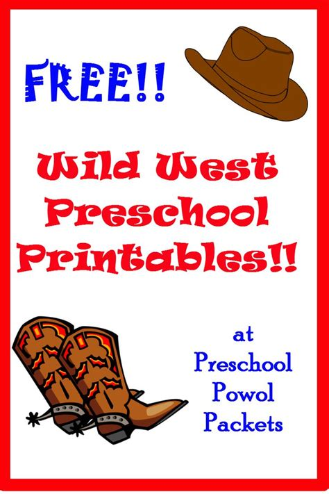 western theme for preschool free west printables nooks the 976