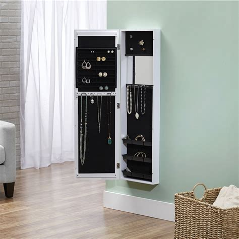 The Door Mirrored Hanging Jewelry Armoire The Door Mirrored Hanging Jewelry Armoire Brilliant