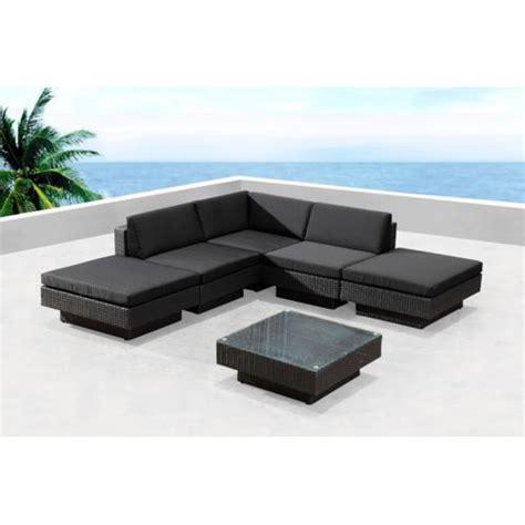 concept usine salon de jardin d angle en r 233 sine tr 233 ss 233 e luxe noir noir pas cher achat