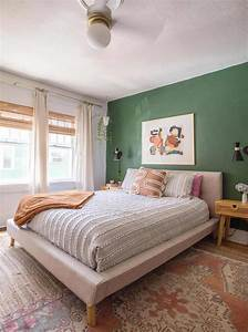Green, And, White, Main, Bedroom, Before, After