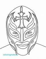 Mysterio Rey Wwe Coloring Wrestling Pages Mask Face Drawing Belt Printable Wrestler Sketch Championship Kalisto Misterio Ray Drawings Sheets Birthday sketch template