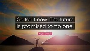 Now To Go : wayne w dyer quote go for it now the future is promised to no one 23 wallpapers quotefancy ~ Orissabook.com Haus und Dekorationen