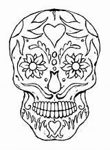 Coloring Skull Sugar Bones sketch template