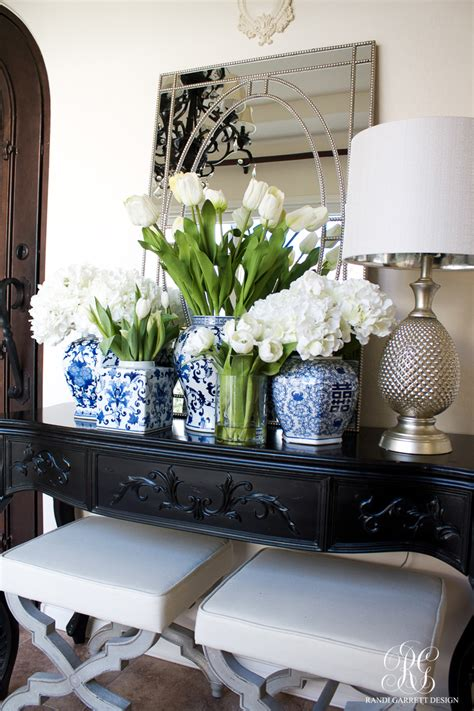spring decorating  fresh  faux flowers