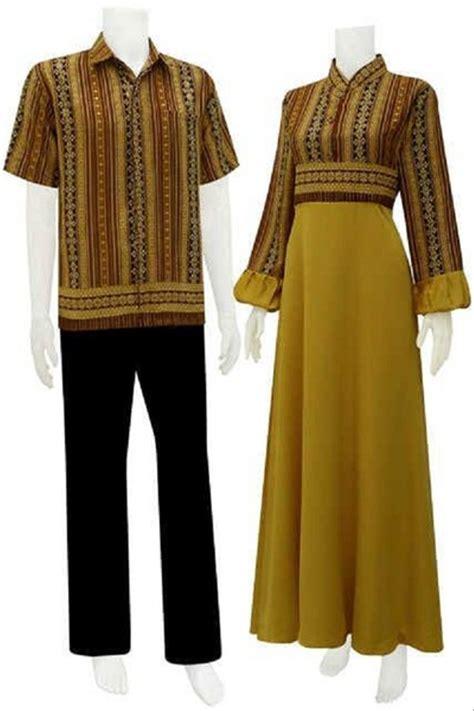 jual sarimbit gamis batik tenun kombinasi gold di lapak purple shop