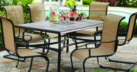hton bay table l hton bay belleville 7 patio dining set hton bay 7 patio