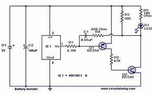 Simple Battery Level Indicatorelectronics Project Circuts