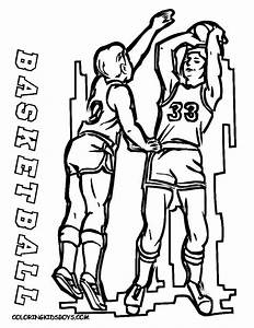 Basketball Player Coloring Pages Getcoloringpagescom