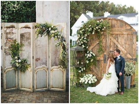 Vintage Doors As Wedding Decor Quirky Parties