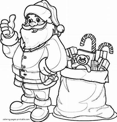 Santa Coloring Printable