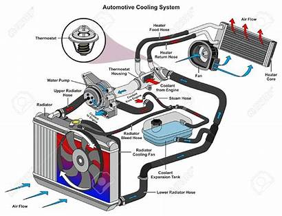 Cooling System Automotive Showing Diagram 123rf Air