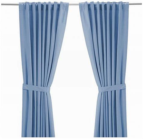 ikea ritva light blue curtains drapes heavy cotton 118 quot