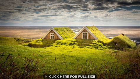 1280 X 800 Wallpapers Iceland Houses Landscape Hd Wallpaper