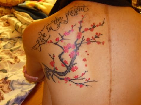 japanese branch quote cherry blossom tattoo
