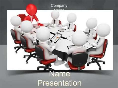 man business meeting powerpoint template youtube