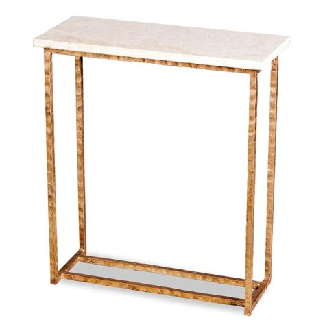 gold and marble end table edland modern gold leaf cream marble end table kathy kuo