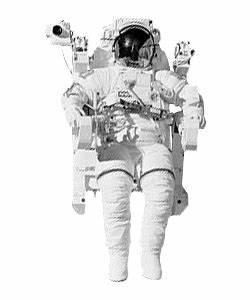Astronaut Space walk transparent background