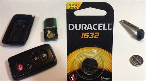 toyota smart key remote fob battery replacement camry