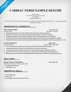 cardiac nurse resume sample resumecompanioncom With great nursing resume