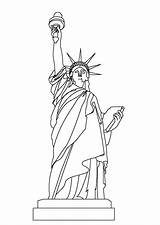Liberty Statue Coloring sketch template