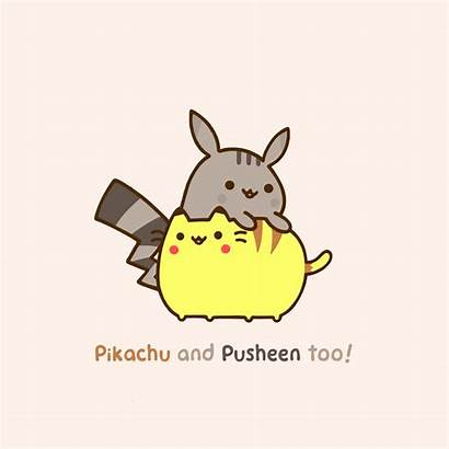Pusheen Cat Wallpapers Kawaii Desktop Pikachu Pokemon