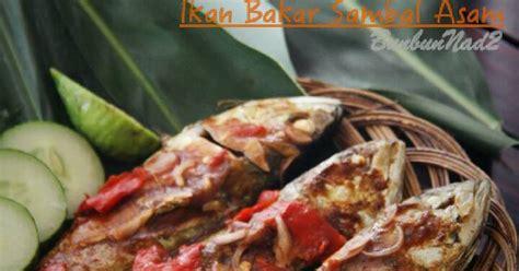resep ikan bakar sambal asam oleh yusti sufyan