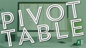 Pivot Table In Excel Microsoft Excel Pivot Table Tutorial For Beginners Excel