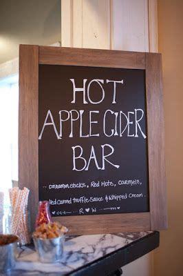 love  fun hot apple cider bar idea   fall