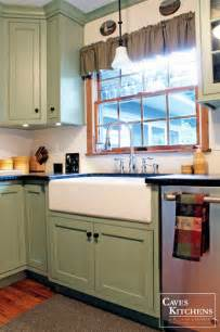 kitchen cabinet painting ideas green country cottage kitchen with farmhouse sink